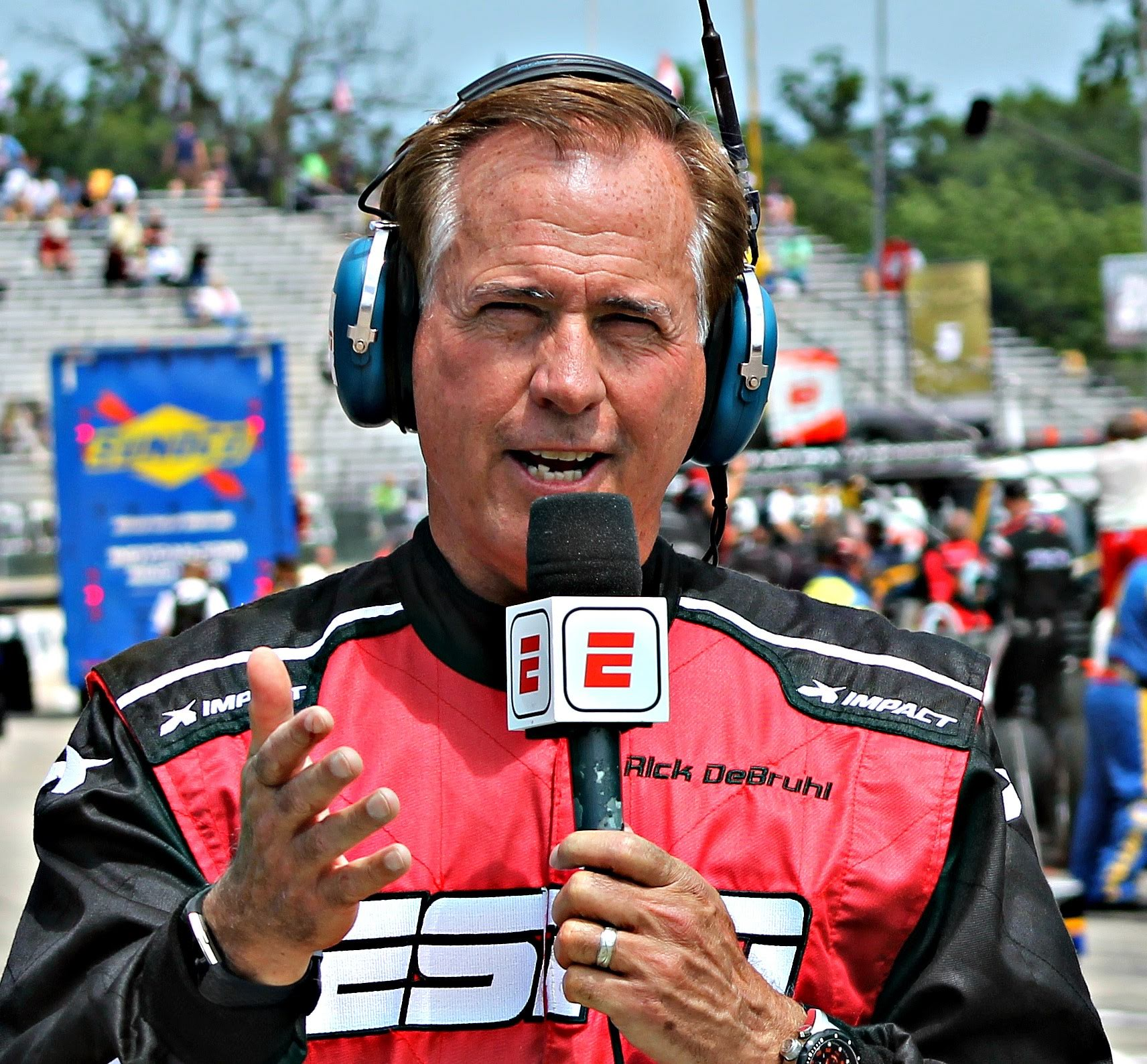 Rick DeBruhl at the Detroit Grand Prix